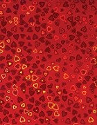 Hot off the Press - 8 1/2x11 Holographic Paper - Red Hearts