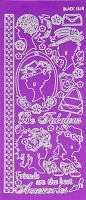 Hot off the Press - Dazzles Stickers - Purple Fabulous Ladies