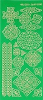 Hot off the Press - Dazzles Stickers - Green Celtic Knots