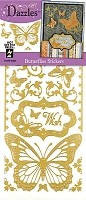 Hot off the Press - Dazzles Stickers - Gold Butterflies