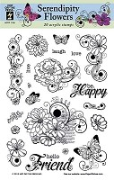 Hot Off The Press - Clear Stamps - Serendipity Flowers