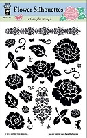 Hot Off The Press - Clear Stamps - Flower Silhouettes