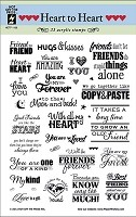 Hot Off The Press - Clear Stamps - Heart to Heart
