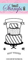 Hot Off The Press - Mini Clear Stamps - Cake