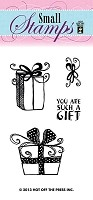 Hot Off The Press - Mini Clear Stamps - Gifts