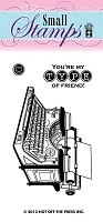Hot Off The Press - Mini Clear Stamps - You're My Type