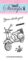 Hot Off The Press - Mini Clear Stamps - Scooter