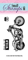Hot Off The Press - Mini Clear Stamps - Motorcycle