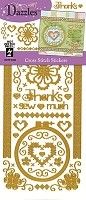 Hot Off The Press - Dazzles Stickers - Cross Stitch Gold