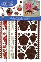 Hot Off The Press - Dazzles Stickers - Mix Ems - Cupcake (3 pk)