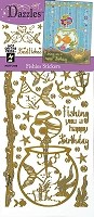 Hot Off The Press - Dazzles Stickers - Fishies Mirror Gold
