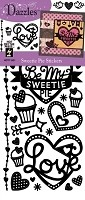Hot off the Press - Dazzles Stickers - Black Sweety Pie
