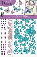 Hot off the Press - Dazzles Stickers - 3 Pack Butterflies