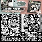 Hot off the Press - 12x12 Dazzles Stickers - Chalkboard Sayings