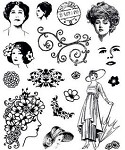 Hot off the Press-Clear Stamps-Vintage Ladies
