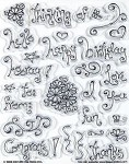 Hot off the Press-Clear Stamps-Whimsical Words/Doodles
