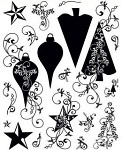 Hot off the Press-Clear Stamps-Christmas Silhouettes