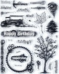 Hot off the Press-Clear Stamps-Sweet Masculine Collage