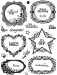 Hot off the Press-Clear Stamps-Labels & Frames