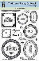 Hot off the Press-Clear Stamps-Christmas Stamp & Punch