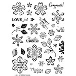 "Hot Off The Press - Clear Stamps - Flower Frenzy (6""x8"")"