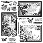 "Hot Off The Press - Clear Stamps - Postcards (8""x8"")"