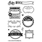 "Hot Off The Press - Clear Stamps - Made by Me (3.75"" x 5.75"")"