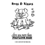 "Hot Off The Press - Clear Stamps - Small Hogs and Kisses (2""x3"")"