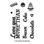 Hot Off The Press - Clear Stamps - Small Love You More (2