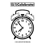 "Hot Off The Press - Clear Stamps - Small Alarm Clock (2""x3"")"