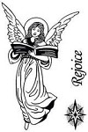 Hot off the Press-Mini Clear Stamps-Rejoice Angel
