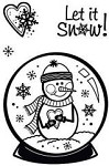 Hot off the Press-Mini Clear Stamps-Snowglobe