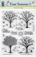 Hot off the Press - Clear Stamps - Four Seasons