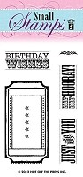 Hot off the Press - Mini Clear Stamps - Ticket