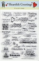Hot off the Press - Clear Stamps - Heartfelt Greetings