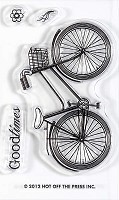 Hot off the Press - Mini Clear Stamp  Stamp - Bike