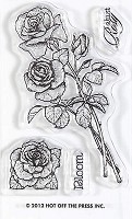 Hot off the Press - Mini Clear Stamp  Stamp - Roses