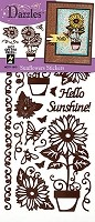 Hot off the Press - Dazzles Stickers - Sunflowers Brown