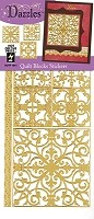 Hot off the Press - Dazzles Stickers - Quilt Blocks Gold