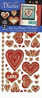 Hot off the Press - Dazzles Stickers - Mix 'Ems Hearts (3 Pk)