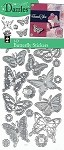 Hot off the Press-Dazzles Stickers-3D Butterflies Silver