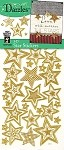 Hot off the Press-Dazzles Stickers-3D Stars Gold