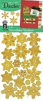 Hot off the Press-Dazzles Stickers-3D Snowflskes Gold