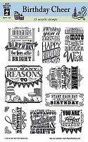 Hot off the Press - Clear Stamps - Birthday Cheer