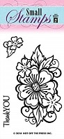 Hot off the Press - Mini Clear Stamp - Flower