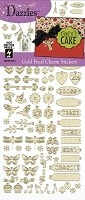 Hot off the Press - Dazzles Stickers - Pearl Gold Charms