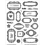 "Hot Off The Press - Clear Stamps - Tiny Tags, Little Labels & Greetings (6""x8"" set)"