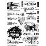 "Hot Off The Press - Clear Stamps - Artful Affirmations (6""x8"" set)"