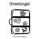 Hot Off The Press - Clear Stamps - Small vacation suitcase (2