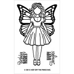 Hot Off The Press - Clear Stamps - Small Girl with Wings (2